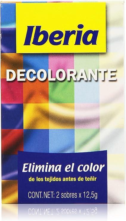 Iberia Decolorante Elimina El Color De Los Tejidos Antes De Teñir 2 Sobres X 12 5 G Amazon Es Belleza