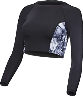 59e0bcf5cf629 Amazon.com  Billabong Women s Fresh Vibes Long Sleeve Crop Rashguard ...