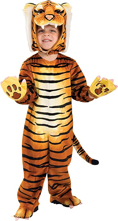 Amazon.com: Disfraz de tigre de safari tonto para niñ ...