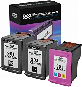 Speedy Inks Remanufactured Ink Cartridge Replacement for HP 901 (2 Black and 1 Color, 3-Pack)