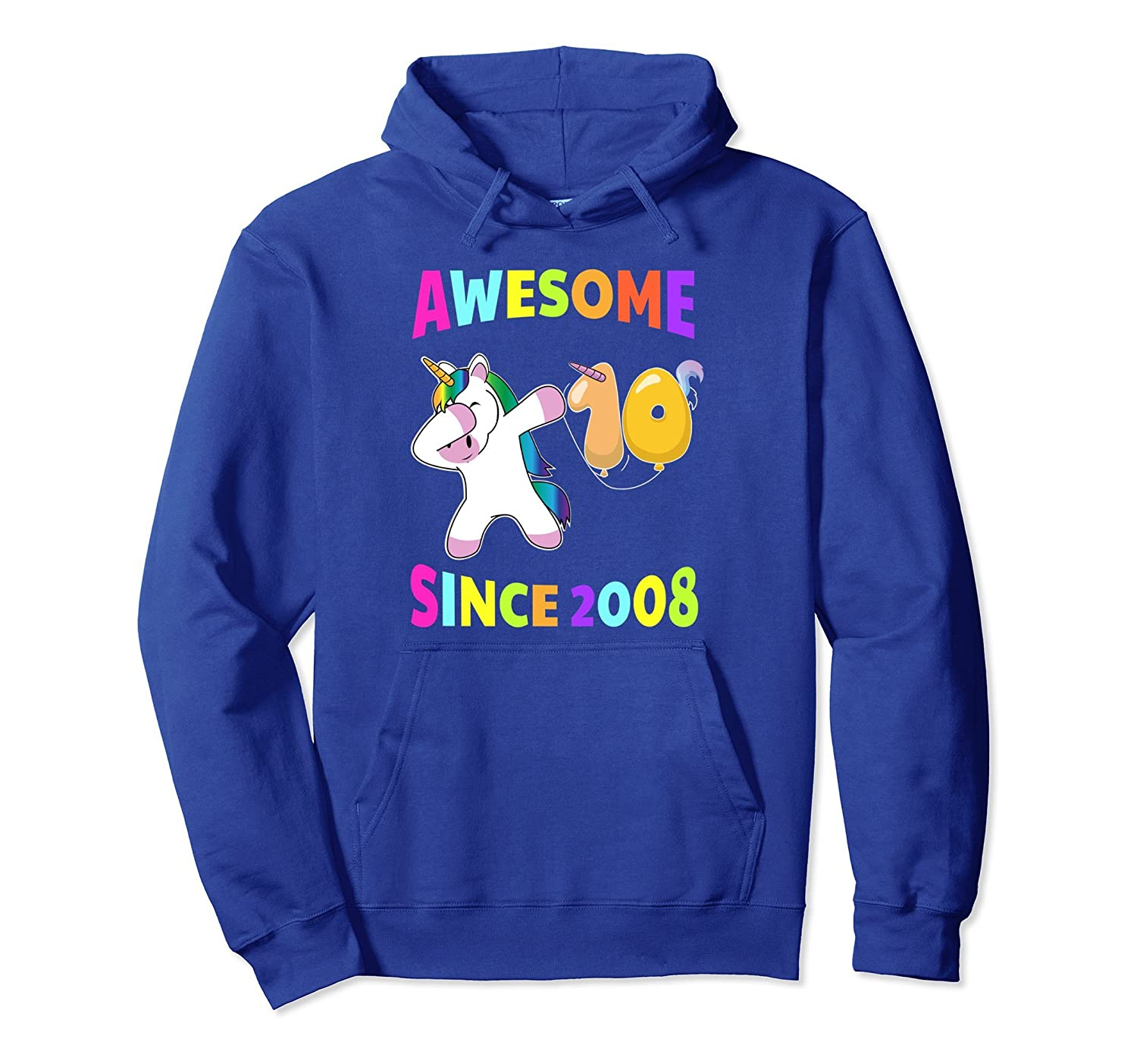 10th Birthday Unicorn Tenth BDay Girls Outfit Gift Hoodie-alottee gift