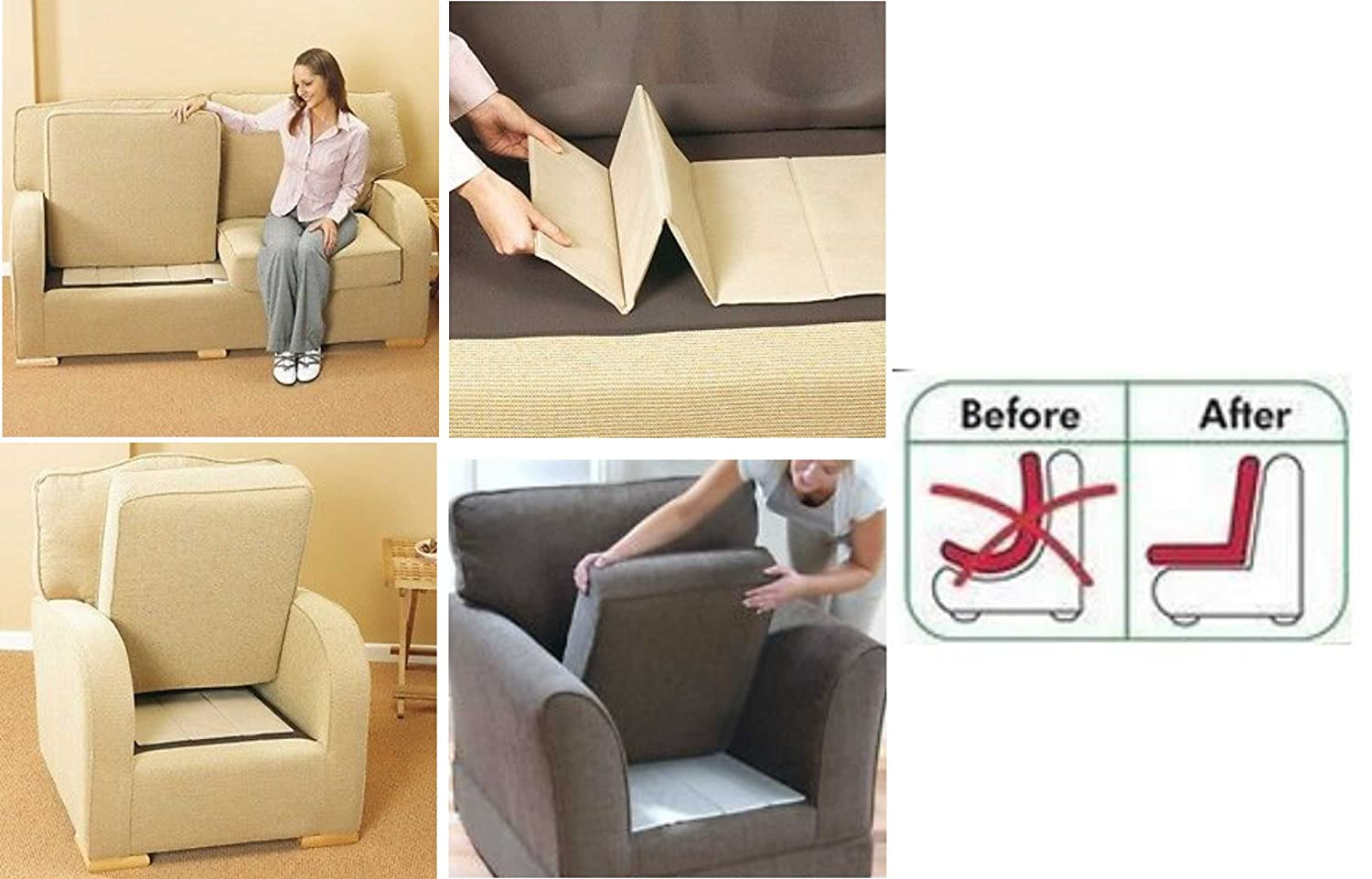 Intimates Sag Savers 2 Seater Sofa Rejuvenator Boards Sofa Chairs Beds Seat Support