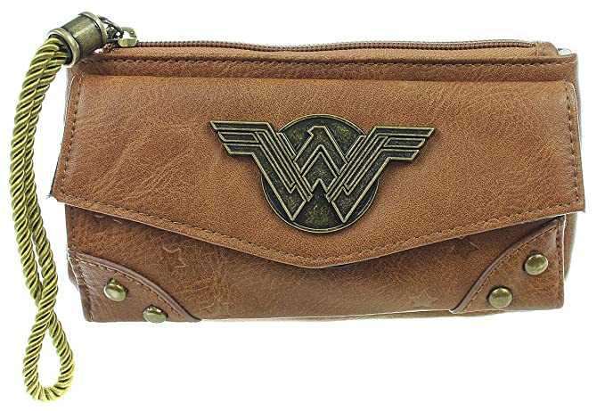 Amazon.com: Wonder Woman Jrs. cartera con cierre superior ...