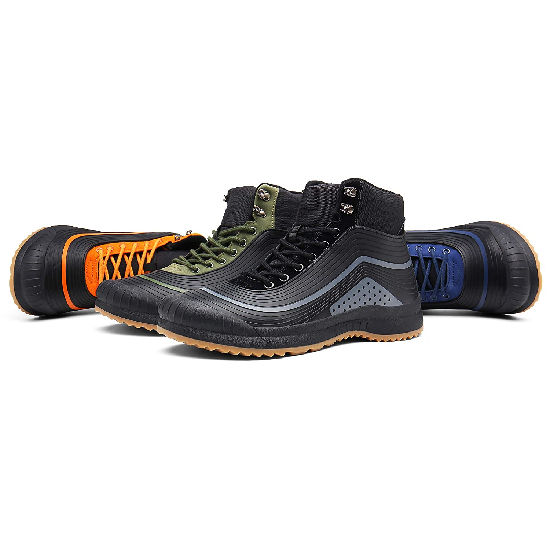 ulogu Mens Snow Boots Waterproof Fur Lined Booties Non-Slip Lightweight Winter Shoes