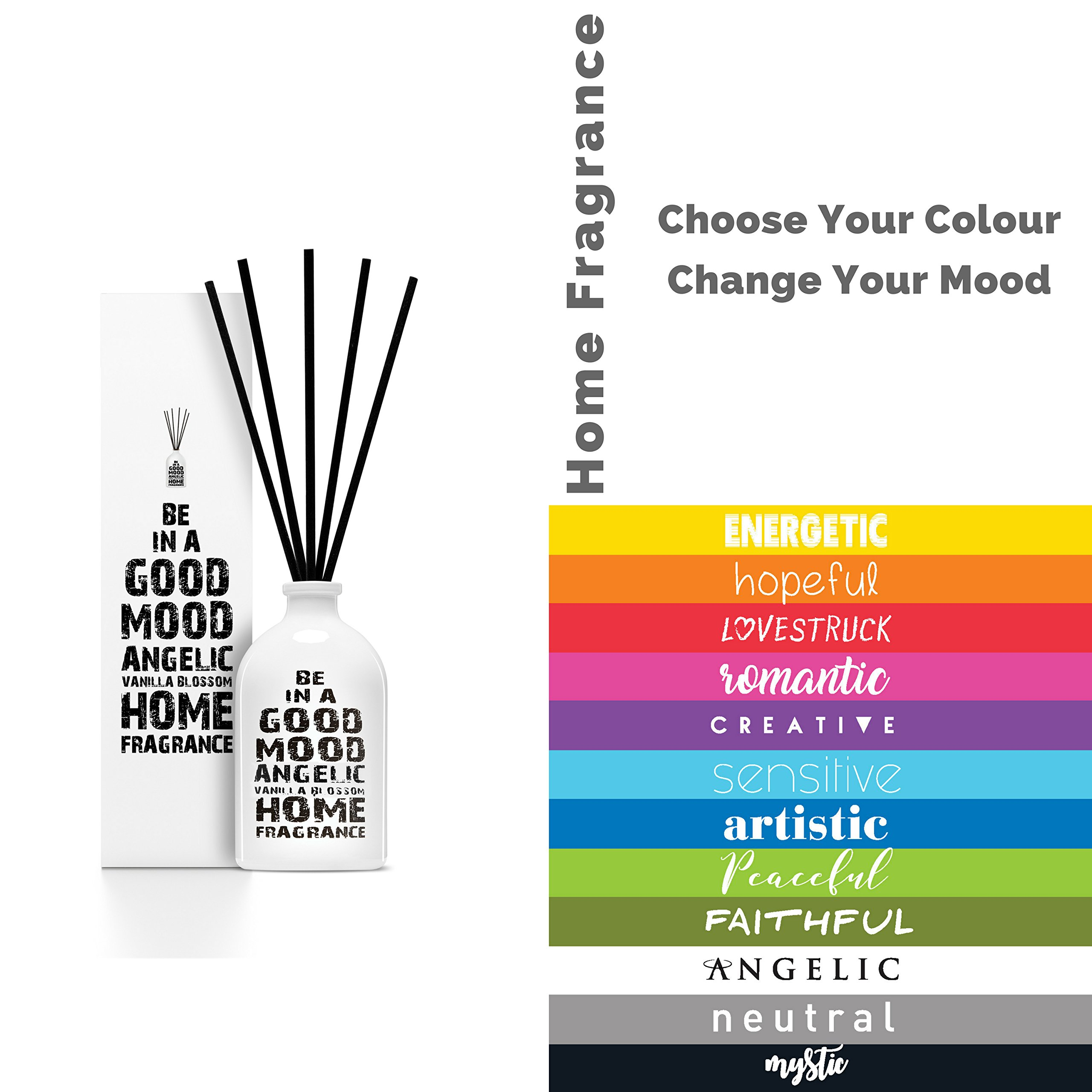 Be in a Good Mood Aromatherapy Diffuser Sticks | Reed Diffuser Set | Aromatic Home Fragrance Set | Essential Oil Diffuser Sticks, Made of Natural Scented Oils Blend - 6 Pack (Vanilla Blossom) by Be in a Good Mood (Image #5)