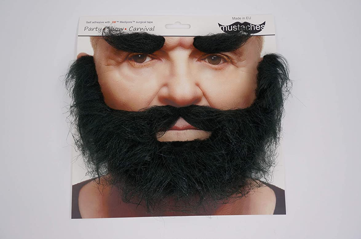 Self Adhesive Fake Mustaches Beard Party Mustache Lifelike Makeup Hair Props