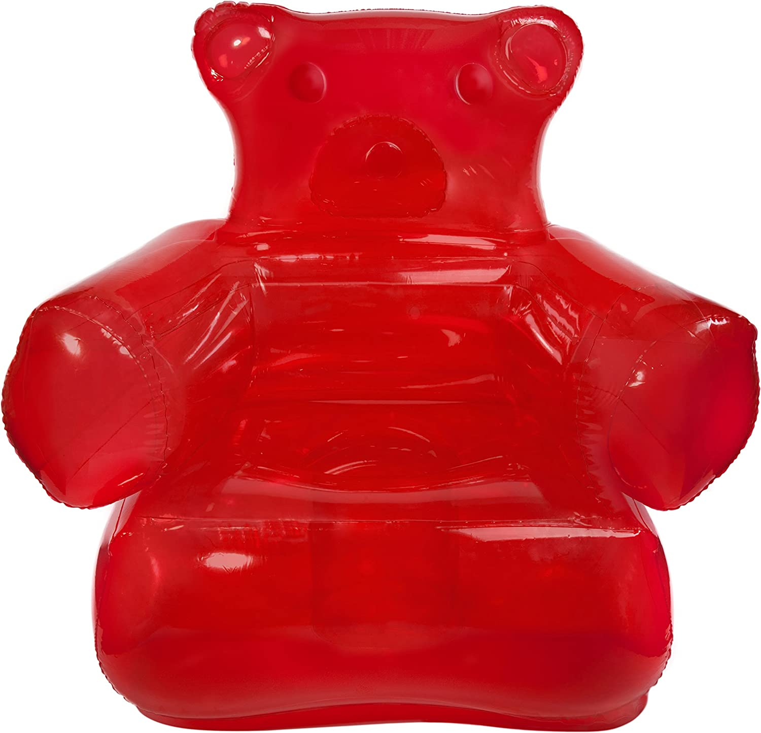Red Inflatable Gummy Bear Chair Delicious Looking Blow Up Chair SNInc.