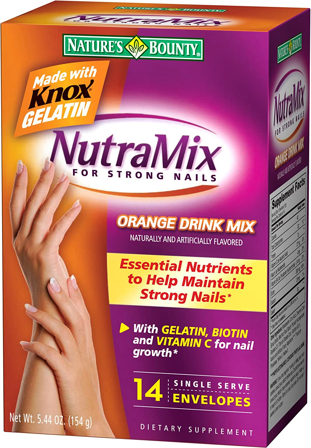 Amazon.com: Nature\'s Bounty Nutramix for Strong Nails, Orange Flavor ...