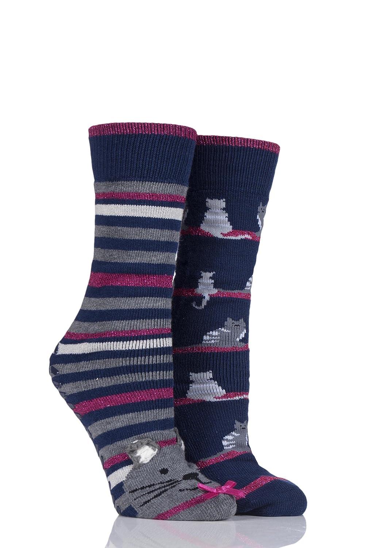 1c26a875d651 totes Ladies Original Slipper Socks (Twin Pack) 3218LRRNWEB ...