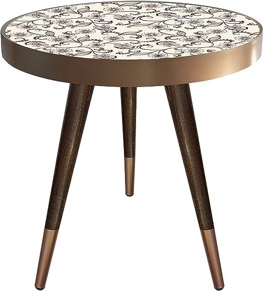 Mesa Auxiliar Mesa de Noche (Coffee Table Mesa Diseño Flores ...