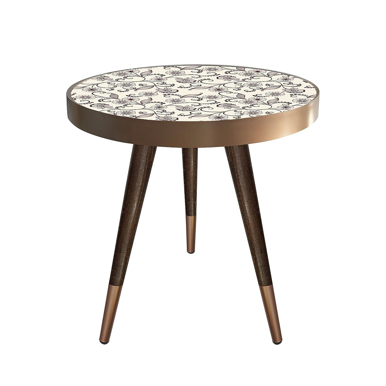 Beistelltisch Couchtisch Nachttisch Nierentisch Coffee Table Tisch Telefontisch Telefontisch Telefontisch Wohnzimmertisch Design Motiv Blumen Muster Größe 55 cm x 45 cm 5907a5