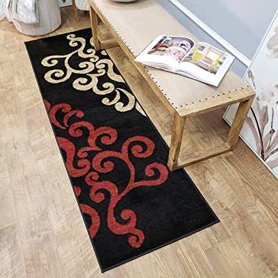 Maxy Home Pasha Filigree Spade Multicolor 2 ft. 7 in. x 10 ft. Rug Runner