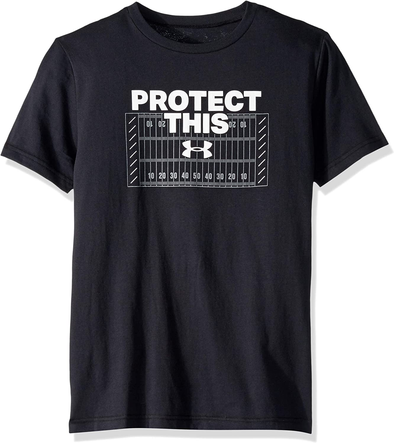 Under Armour Protect This Tシャツ YTH 黒 (001)/白い Youth Small