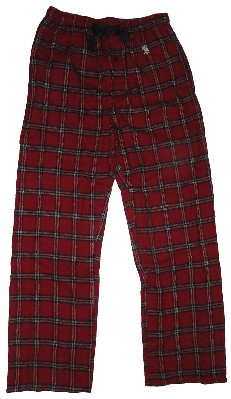Size Small Red Plaid//Grey Polo Assn Mens Pajama Set U.S