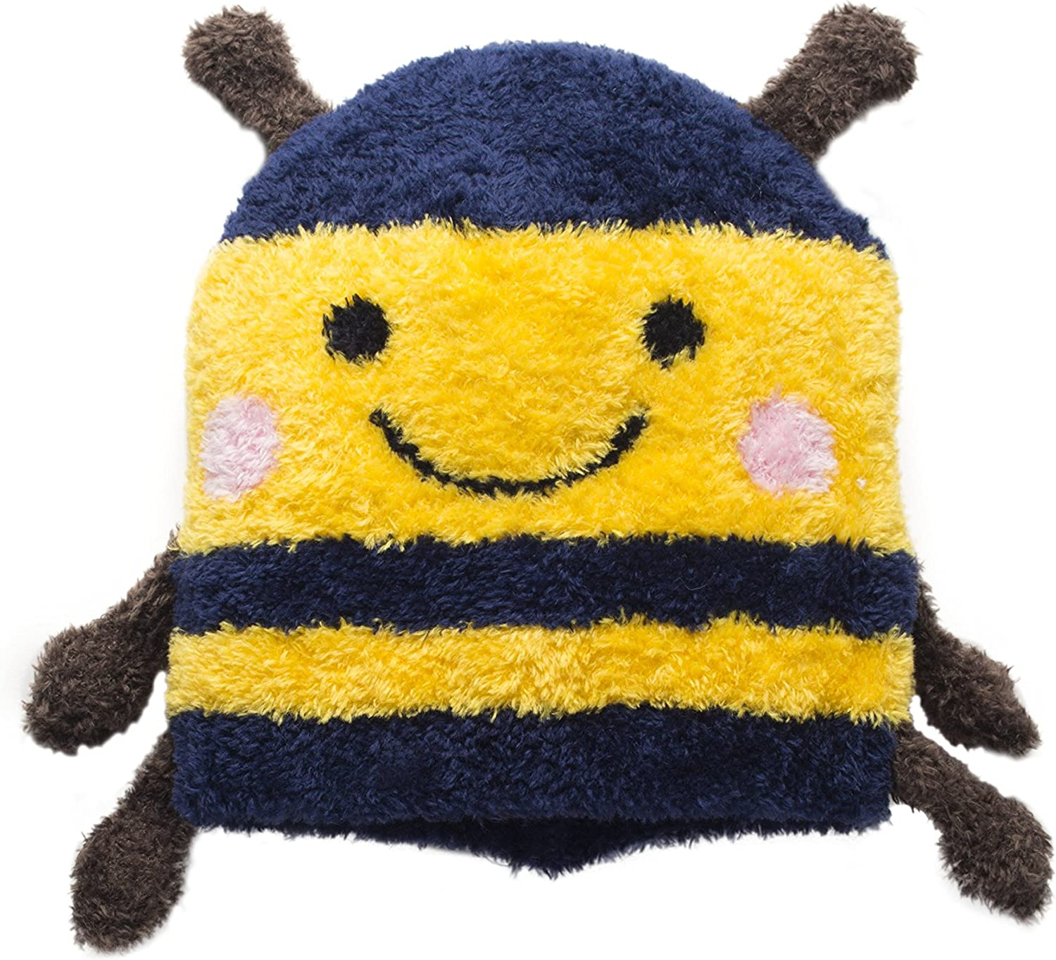 Bumble Bee Hat for Kids and Toddlers Outdoor Cap for Fun Ski Play Unisex Yellow Blue