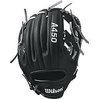 "WILSON Advisory Staff Pedroia Baseball Glove, 10.75"", Black/Gray, Left Hand"