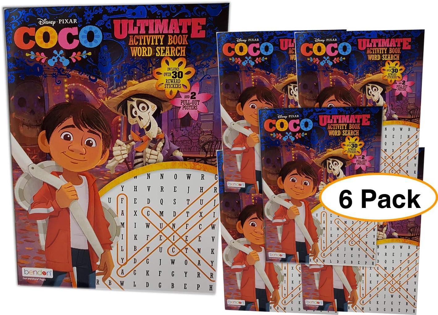 Libro de actividades de búsqueda de palabras Coco Disney con 2 ...