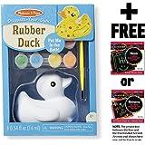 Rubber Ducky: Decorate-Your-Own Kit + FREE Melissa & Doug Scratch Art Mini-Pad Bundle (88657)