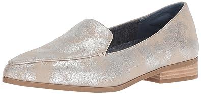 bdda37fc251 Dr. Scholl s Shoes Women s Elegant Loafer Flat Palomino Silver Splatter ...