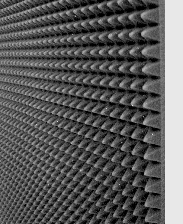 40 MQ Pannelli fonoassorbente 100x100x3 Cm 40mq piramidale per correzione audio in poliuretano