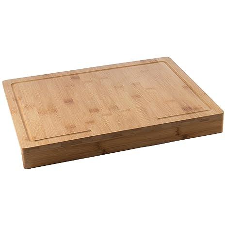 Captivating Levivo Tabla De Cortar De Madera De Bambú Con Borde De Encimera, Tabla De  Cocina