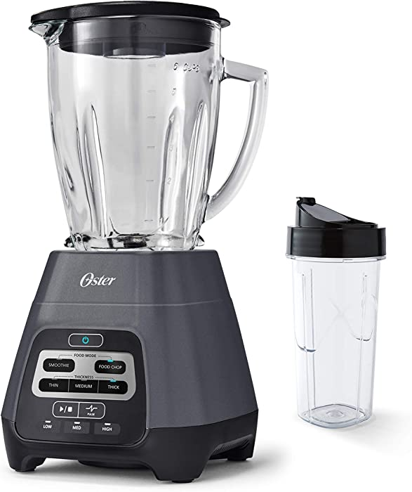 Master Series Blender with Texture Select Settings, Blend-N-Go Cup and Glass Jar, Grey