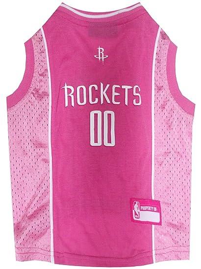 e5a25d9d84ca Amazon.com   NBA HOUSTON ROCKETS Pink DOG Jersey