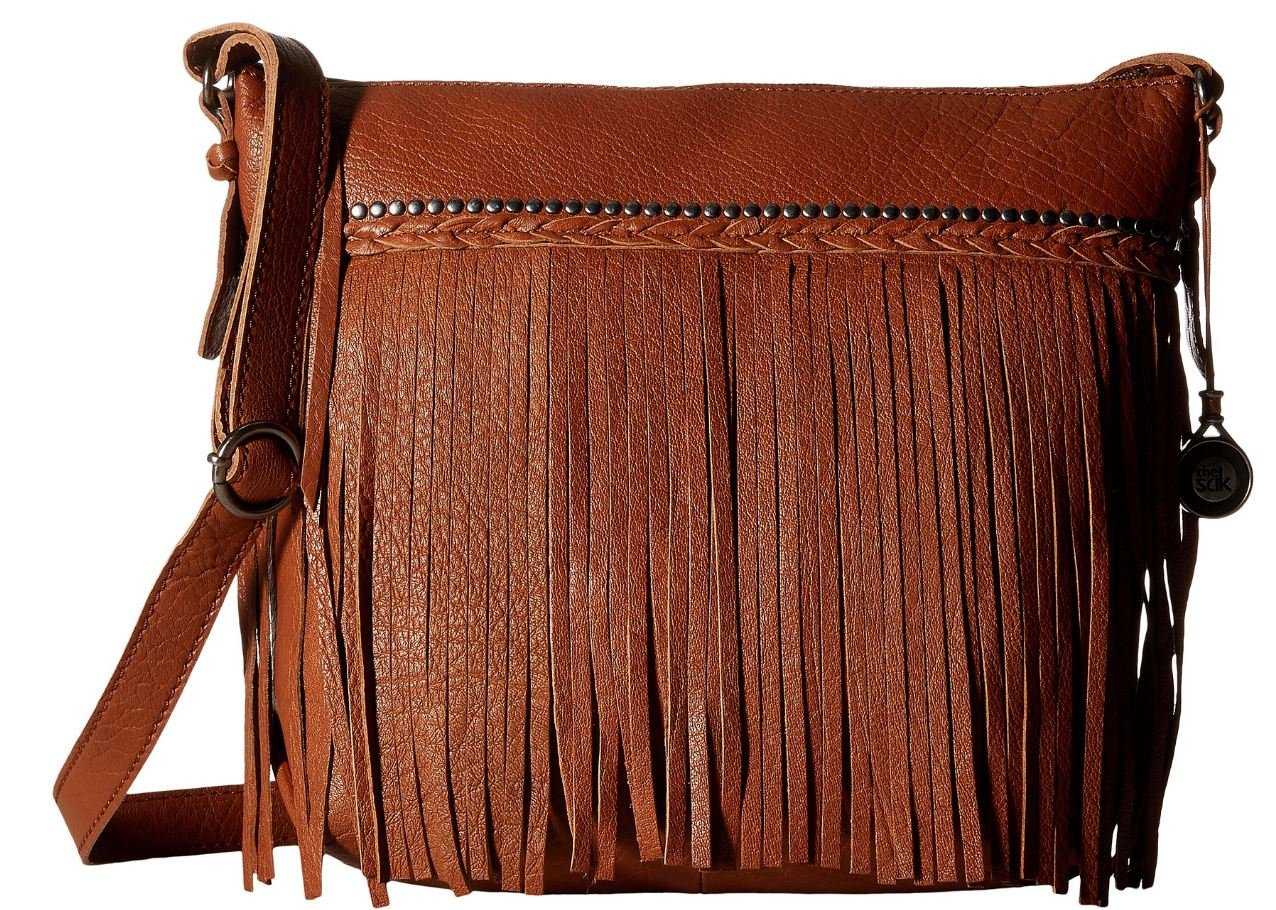 The Sak Women's Sierra Small Bucket Tobacco Fringe Cross Body