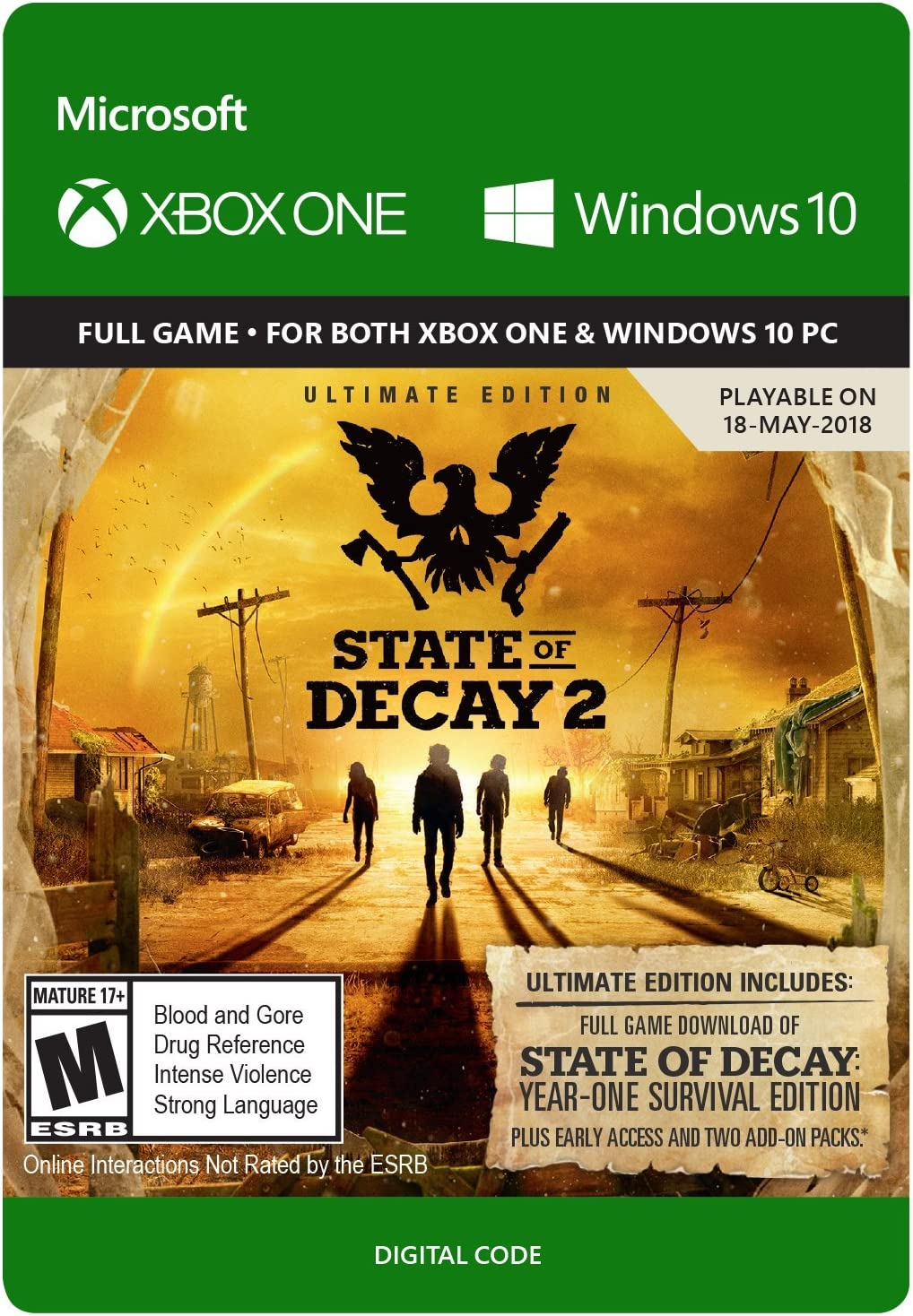 Amazon com: State of Decay 2: Ultimate Edition - Xbox One