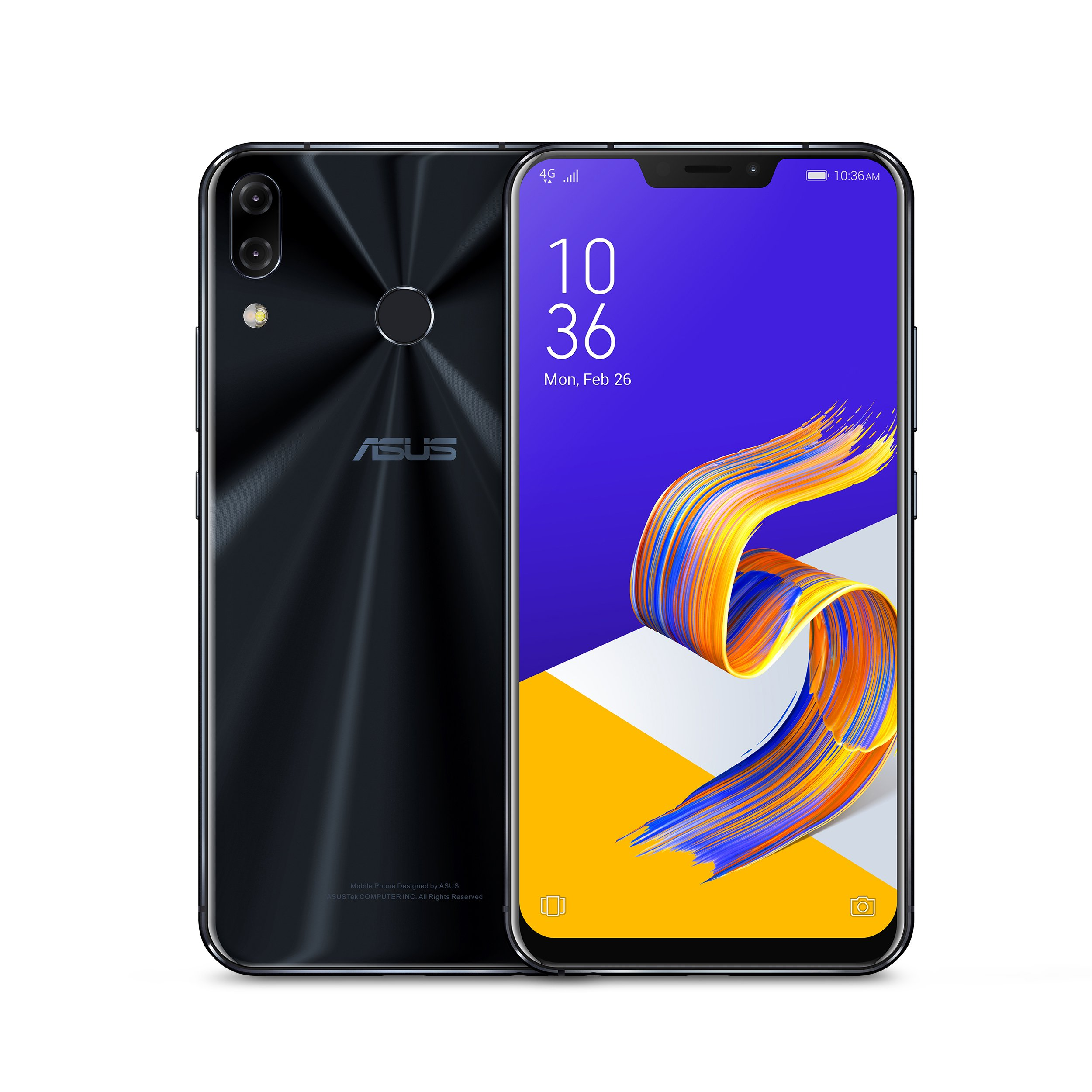 "CDM product ASUS ZenFone 5Z (ZS620KL-S845-6G64G) - 6.2"" FHD+ 2160x1080 display - 6GB RAM - 64GB storage - LTE Unlocked Dual SIM Cell Phone - US Warranty - Midnight Blue small thumbnail image"