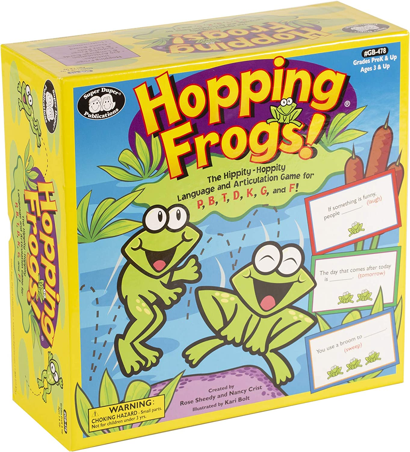 1586501917 Super Duper Publications Hopping Frogs Vocabulary & Fluency Board Game Educational Learning Resource for Children 81gTI8mvCtL
