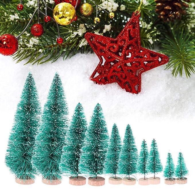 Amazon.com: Artibetter - 48 mini árbol de Navidad con forma ...