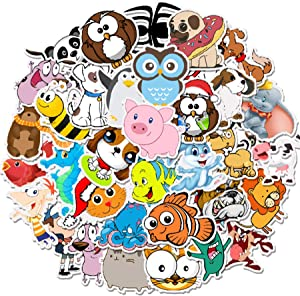 Cute Stickers 50 PCS, Stickers for Teens,Girls,Kids,Adults - Stickers for Waterbottles,Laptop,Phone,Hydro Flask Travel Vinyl Stickers Waterproof (Animal Series)