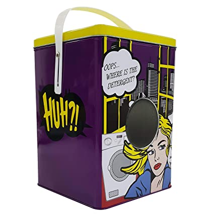 414174c59d5 Shopster Home Laundry Powder Storage Tin, 25 cm Cartoon Metal Laundry  Powder Tin Washing Powder Storage Box Container Storing Washing Powder:  Amazon.in: ...