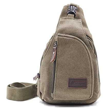 719f4f3b8b Kalevel Sling Bag Chest Shoulder Backpack Canvas Crossbody Bags Outdoor  Casual Sling Multipurpose Shoulder Bag Cool Sports Travel Unbalance  Backpack for Men ...