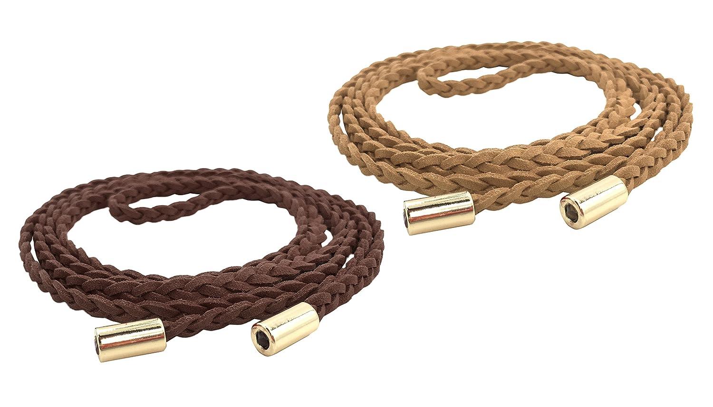 Coffee apricot TeeYee Women Girls Slim Waist Belt Rope Chain Set