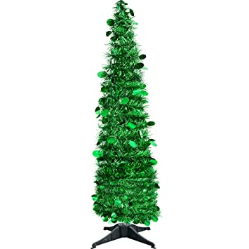 JHYQ-US Collapsible Christmas Trees Tinsel Artificial Tree with Stand 5  Foot Tall for Home - Amazon.com: JHYQ-US Collapsible Christmas Trees Tinsel Artificial