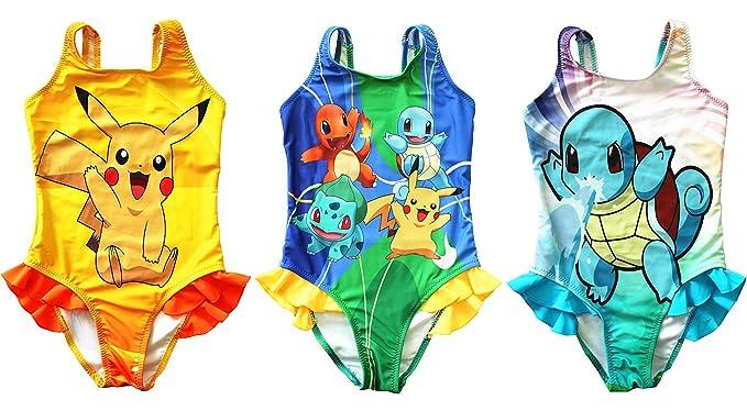 f864d74ee05f7 UK SELLER Pokemon Go Girls Swimwear Swimming Costume Swimsuit Pikachu  Squirtle Charmander: Amazon.co.uk: Clothing