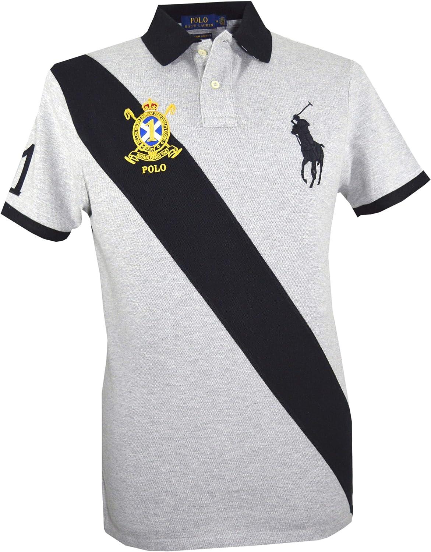 Ralph Lauren Big Pony - Polo para Hombre, Color Gris Gris Gris XL ...