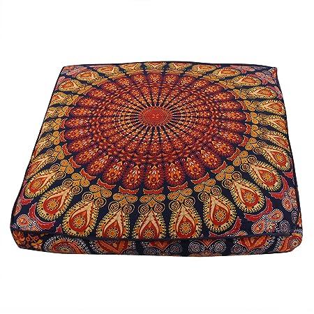 Janki Creation Funda de cojín Cuadrada con diseño de Mandala ...
