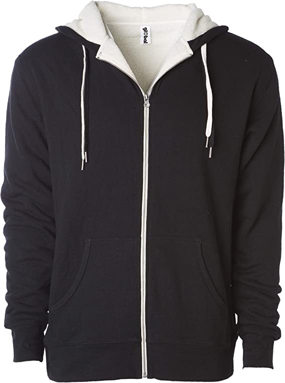 Coolred-Men Long-Sleeve Zipper Cardigan Jackets Hood Casual Patched Sweatshirts