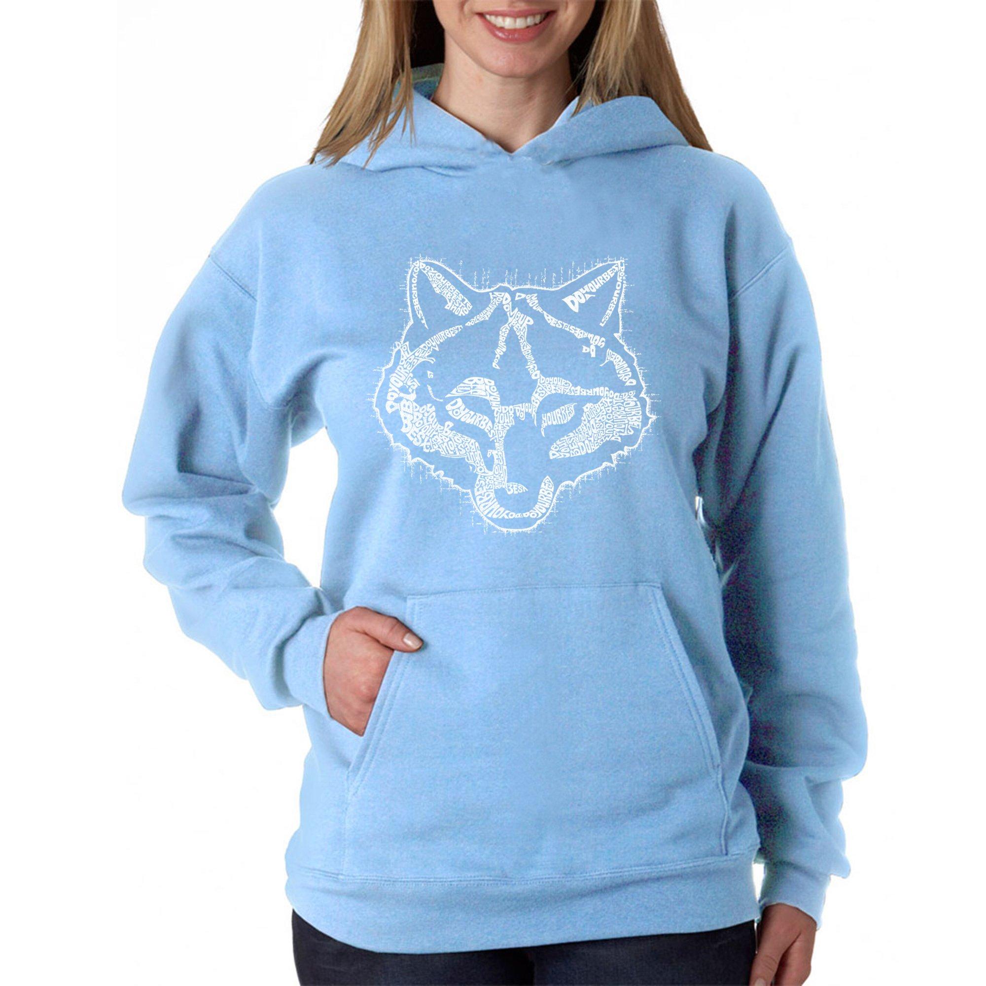 Women's Word Art Hooded Sweatshirt -Cub Scout- LA Pop Art Blue by Los Angeles Pop Art