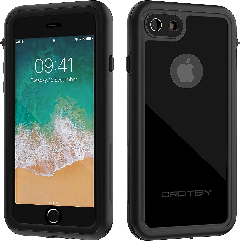 ORDTBY iPhone 7/8 Waterproof Case, Underwater Full Sealed Cover IP68 Certified for Waterproof Snowproof Shockproof and Dustproof Case for iPhone 7/8 (black)
