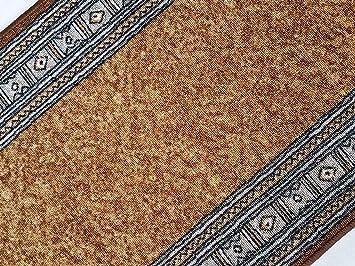 Passatoia Al Metro.Maya Passatoia Al Metro In Stile Contemporaneo Arancione Larghezza 67 Lunghezza Al Metro