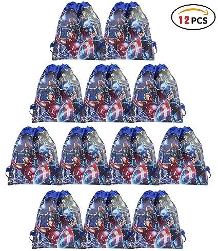 Qemsele Bolsa Mochilas Bolsas de cumpleañoscordón Dibujos Animados Mochila Bolsas para cumpleaños niños y Adultos la Fiesta favorece la Bolsa, ...