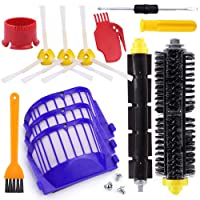 Oumers Replacement Parts for iRobot Roomba 600 Series 620 650 (Flexible Beater Brush Bristle Brush Filter 3-Armed Brush Cleaning tools) Robotic Vacuum Fittings