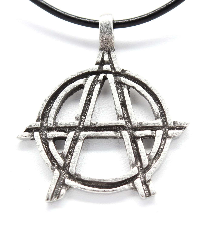 Amazon Pewter Anarchy Symbol Biker Gothic Pendant On Leather