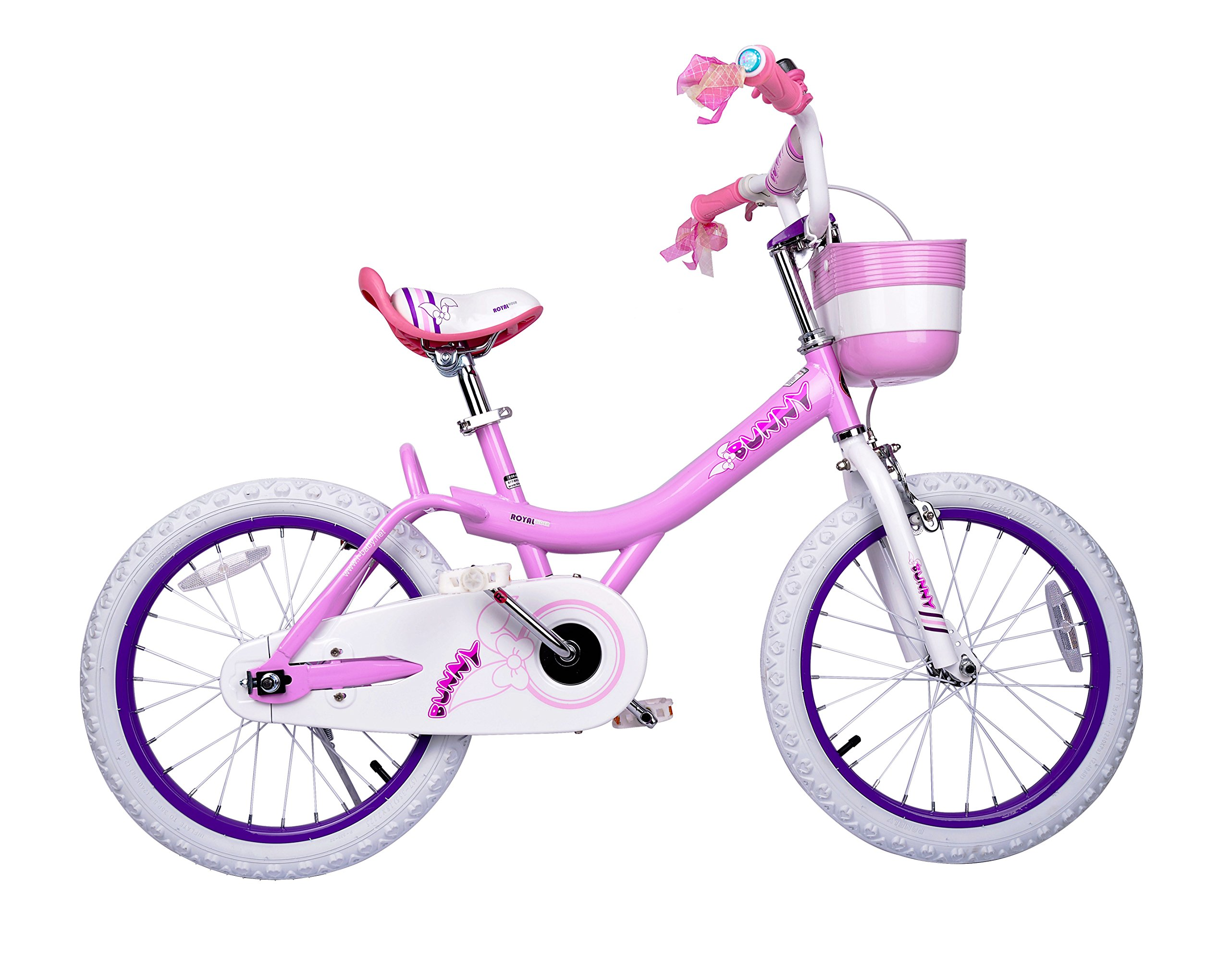 Royalbaby Bunny Girl's Bike Pink 12 inch Kid's bicycle