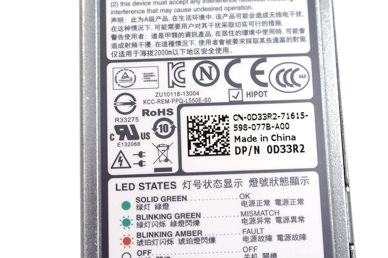 POWER SUPPLY M95X4 For Dell POWEREDGE R320 R420 550W PSU L550E-S0  PS-2551-1D-LF