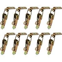 Gurxi 10 Stuks Eend Gefactureerde Gespen Vang Klem Spanning Lock Rvs Lente Geladen Toggle Vangst Sluiten voor Case Box…